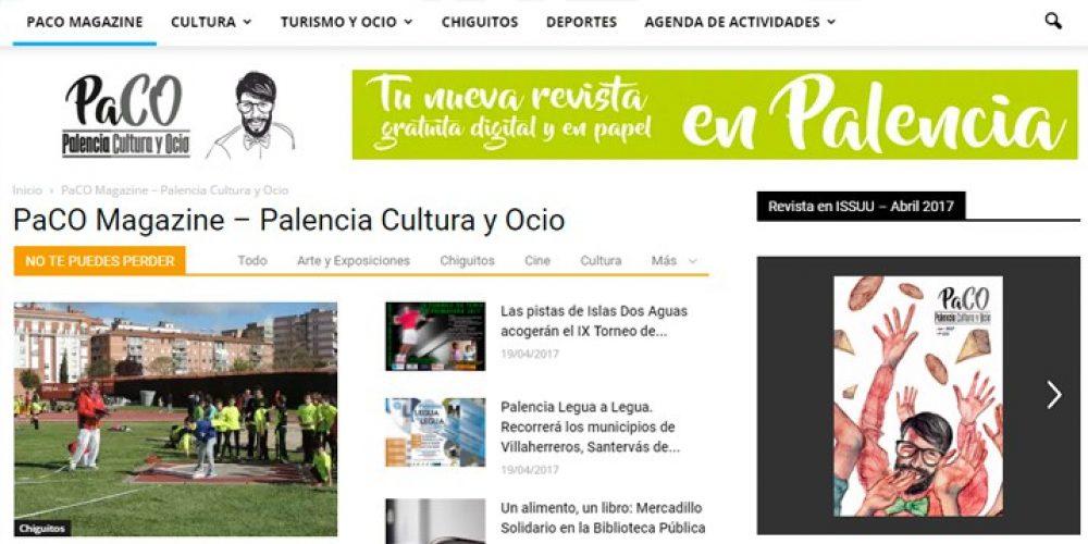 Presentamos la Web PaCO Magazine Palencia Cultura y Ocio