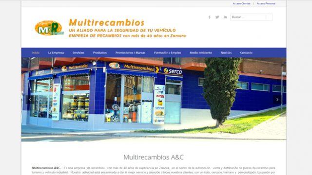 Presentamos la Web Multirecambios A&C