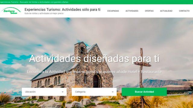 Presentamos la Web Experiencias Turismo