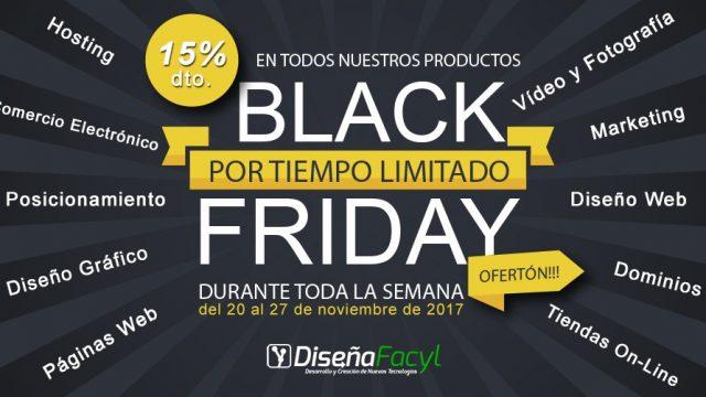 Aprovéchate de la semana del Black Friday al 15% de descuento en DiseñaFacyl